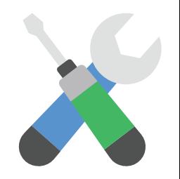 Repair, repair, wrench and screwdriver,