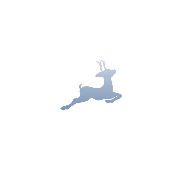 Reindeer silhouette, reindeer silhouette, deer silhouette,