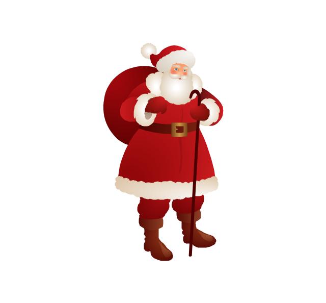Santa Claus, Santa Claus, Santa Claus with a bag,