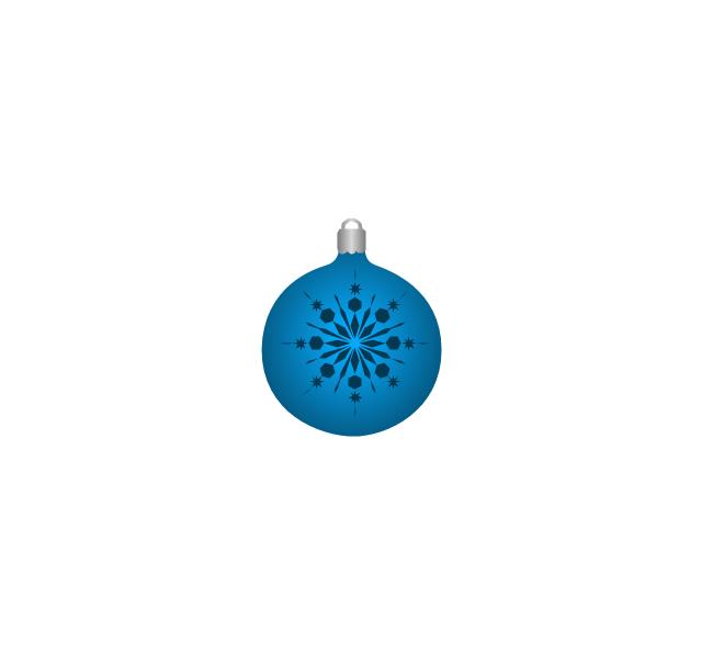 Christmas tree ornament, snowflake, blue, snowflake, Christmas tree ornament,