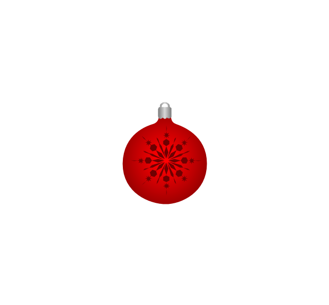 Christmas tree ornament, snowflake, red, snowflake, Christmas tree ornament,