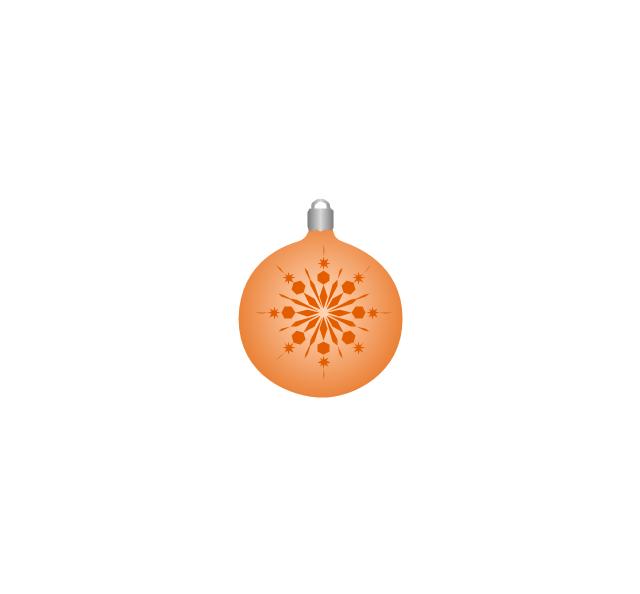 Christmas tree ornament, snowflake, orange, snowflake, Christmas tree ornament,