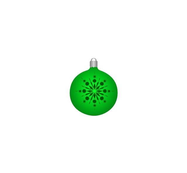 Christmas tree ornament, snowflake, green, snowflake, Christmas tree ornament,