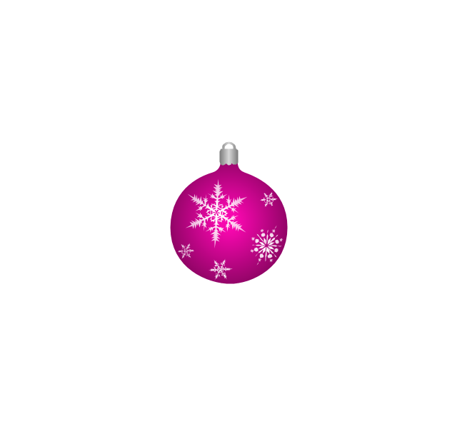Christmas tree ornament, snowflakes, lilac, Christmas tree ornament,
