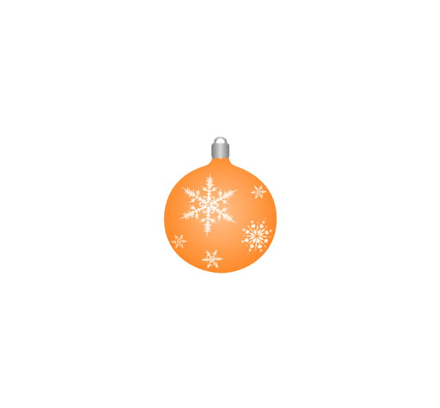 Christmas tree ornament, snowflakes, orange, Christmas tree ornament,