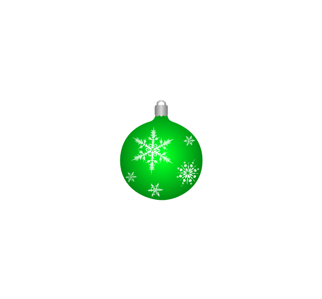 Christmas tree ornament, snowflakes, green, Christmas tree ornament,