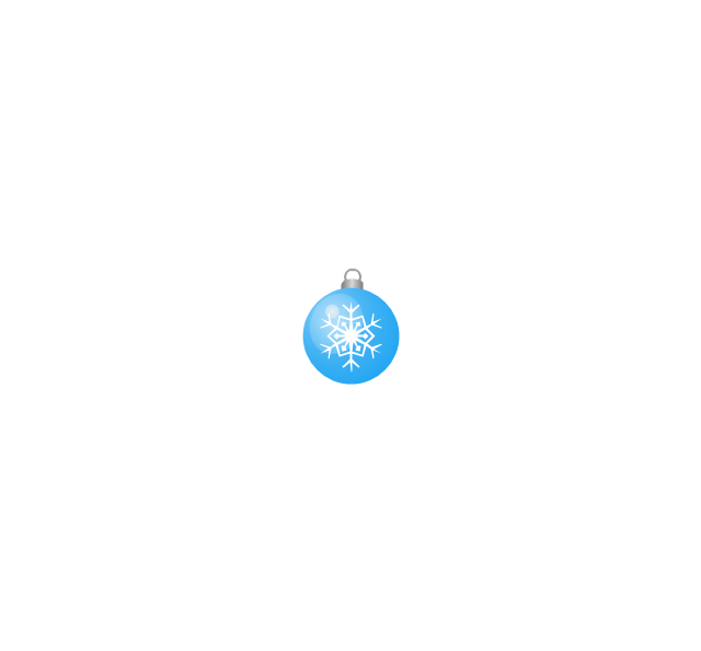 Christmas tree ornament, snowflake, blue, small, snowflake, Christmas tree ornament,