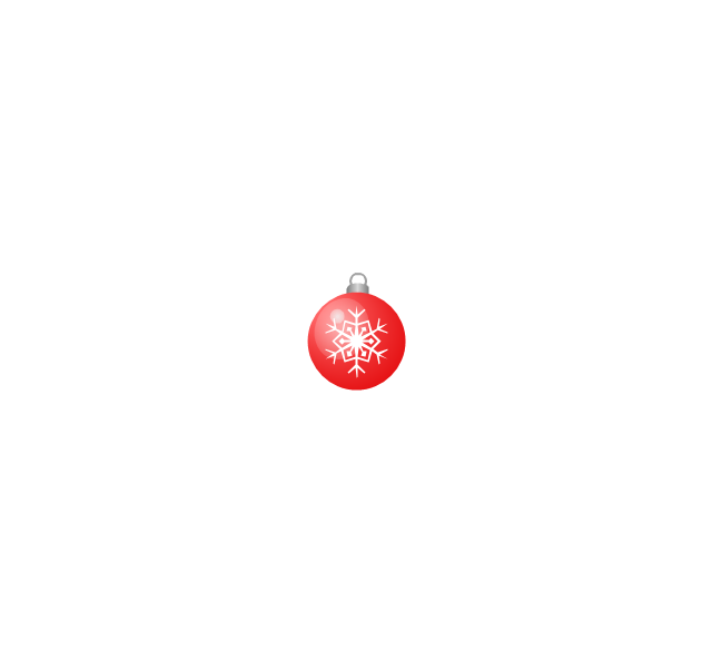 Christmas tree ornament, snowflake, red, small, snowflake, Christmas tree ornament,