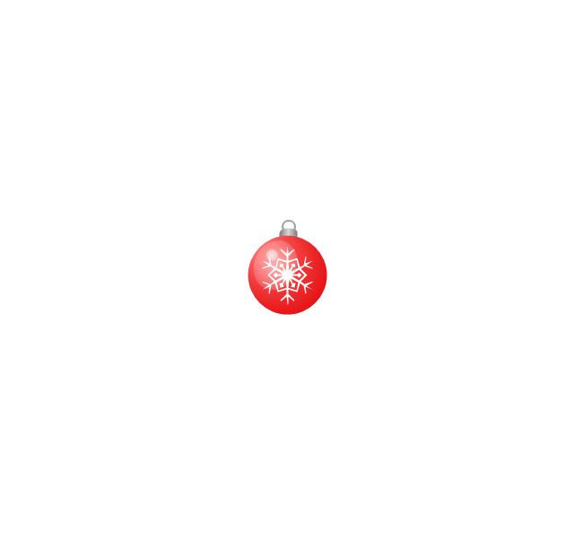 Christmas tree ornament, snowflake, red, small, snowflake, Christmas tree ornament,