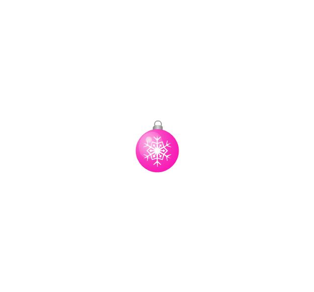 Christmas tree ornament, snowflake, lilac, small, snowflake, Christmas tree ornament,