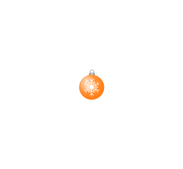 Christmas tree ornament, snowflake, orange, small, snowflake, Christmas tree ornament,