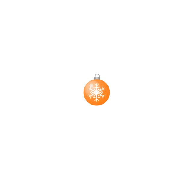 Christmas tree ornament, snowflake, orange, small, snowflake, Christmas tree ornament,