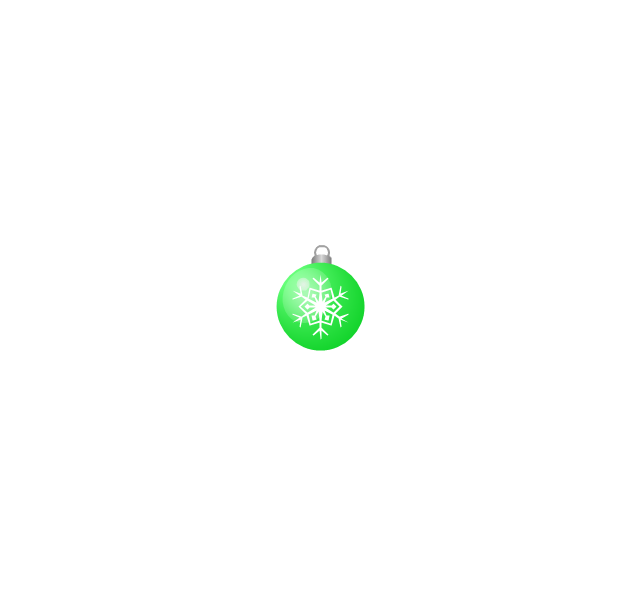 Christmas tree ornament, snowflake, green, small, snowflake, Christmas tree ornament,