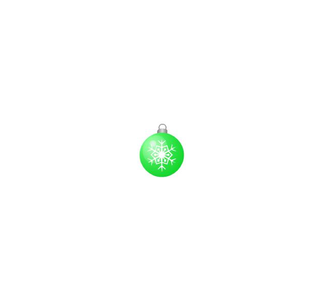 Christmas tree ornament, snowflake, green, small, snowflake, Christmas tree ornament,