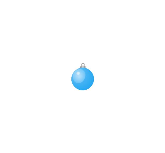 Christmas tree ornament, blue, small, Christmas tree ornament,