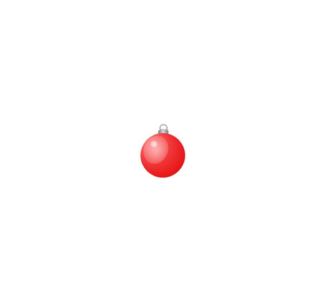 Christmas tree ornament, red, small, Christmas tree ornament,