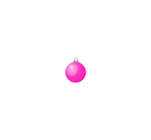 Christmas tree ornament, lilac, small, Christmas tree ornament,