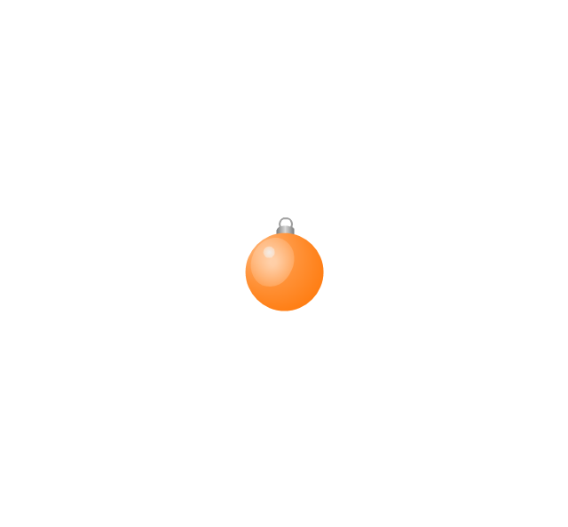Christmas tree ornament, orange, small, Christmas tree ornament,