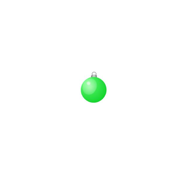 Christmas tree ornament, green, small, Christmas tree ornament,