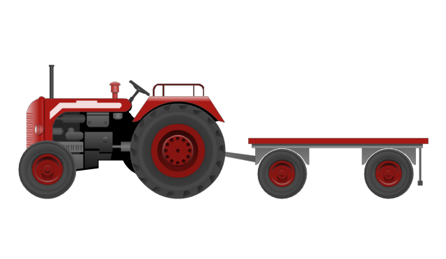 Tractor with a trailer, tractor, trailer,