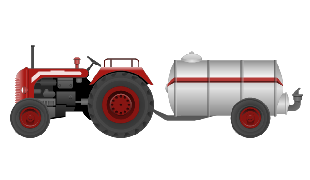 Tractor with a petrol tanker, tractor, petrol tanker,