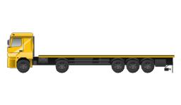 Full trailer truck, full trailer truck,