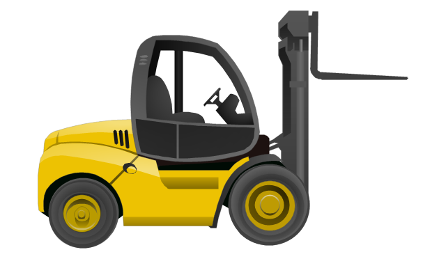 Industrial Vehicles Vector Stencils Library