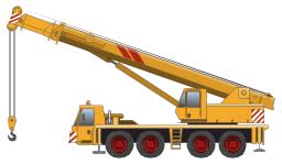 Truck-mounted crane, truck-mounted crane,