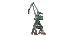Level luffing crane, harbour crane,
