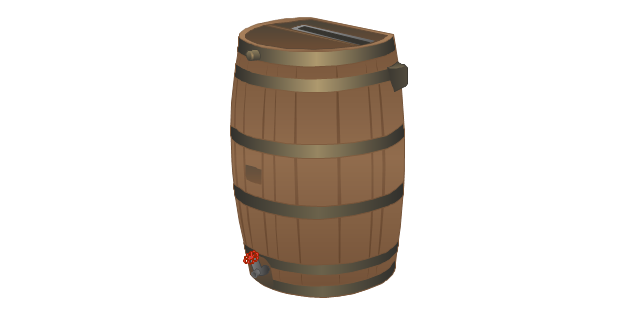Woodgrain barrel, woodgrain, barrel,