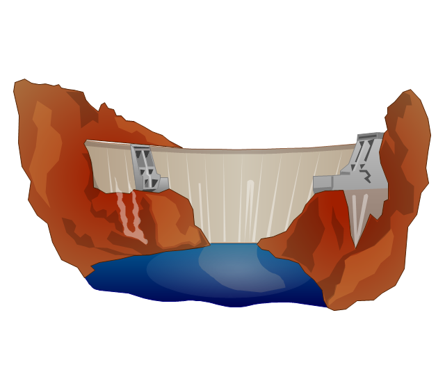 Hydroelectric dam, dam,