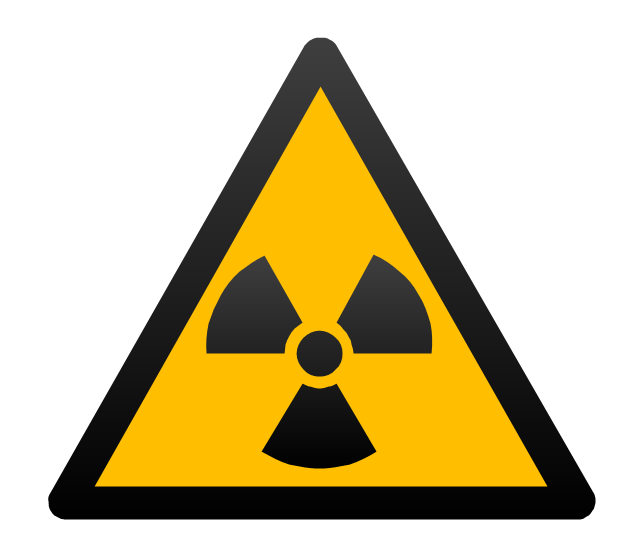 Ionizing radiation hazard sign, radioactivity,