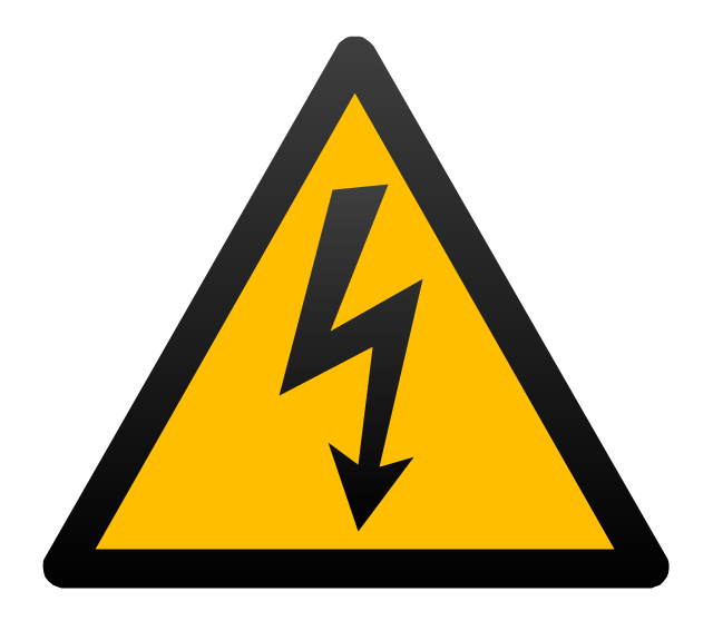 High voltage symbol, electricity,