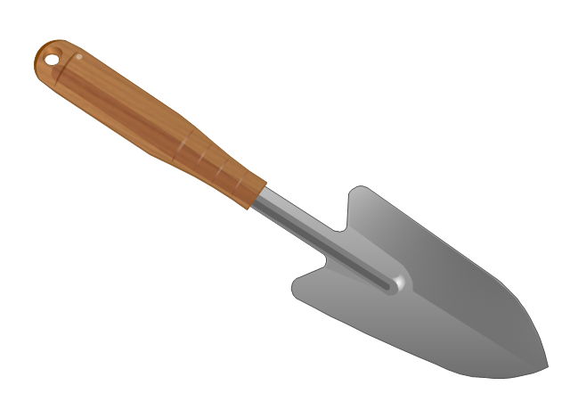 Gardening trowel, spade,