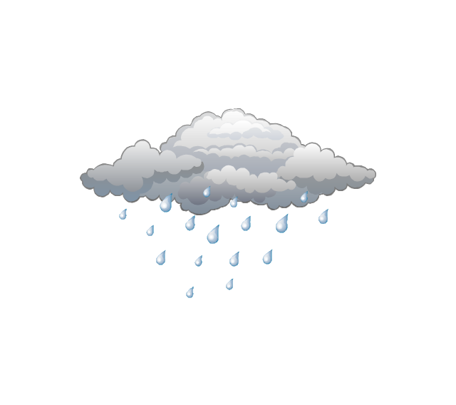 Weather - Vector stencils library | Water cycle diagram | Weather ...