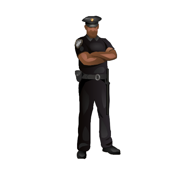 Security officer, security officer, man,