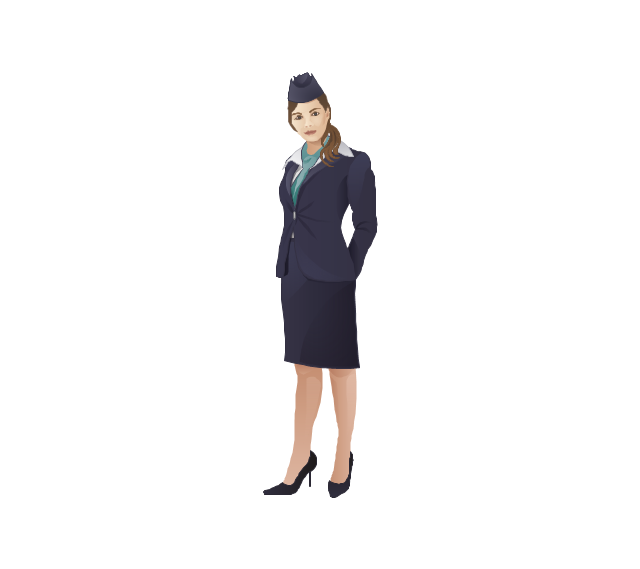 Flight attendant, flight attendant, hostess, air hostess, woman,