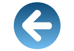 Leftward  blue, presentation, arrow,