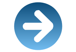 Rightward blue, presentation, arrow,