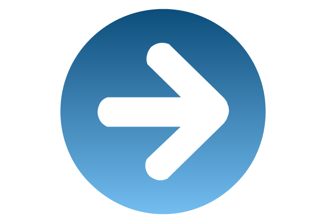 Rightward blue, presentation, arrow,