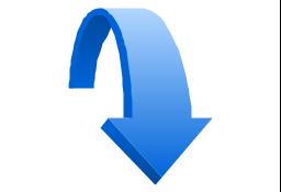 Moving down, presentation, arrow,