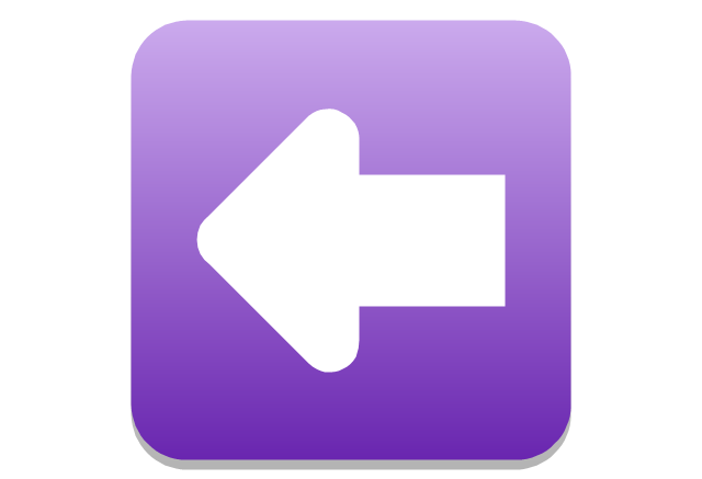 Arrow left rounded square, presentation, arrow,