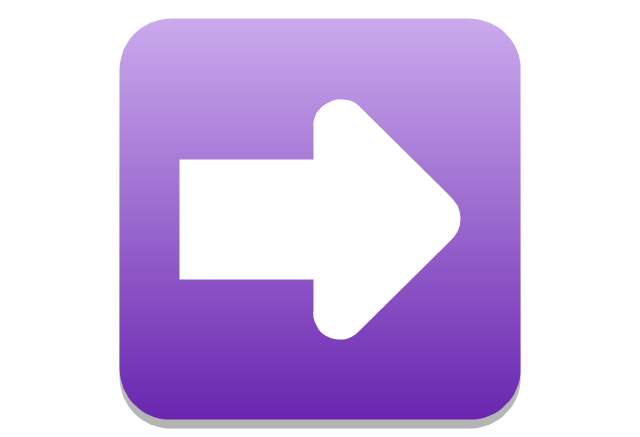 Arrow right rounded square, presentation, arrow,
