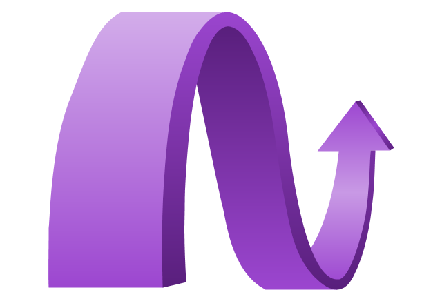 Wavy arrow, presentation, arrow,