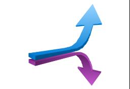 Opposite direction, presentation, arrow,