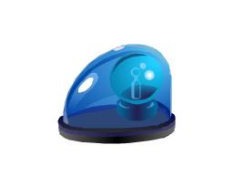 Alarm light, blue, alarm light, blue,