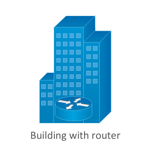 Building with router, router in building,