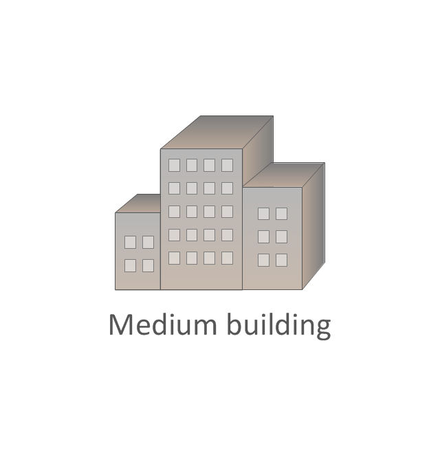 Medium building, regular, medium building,