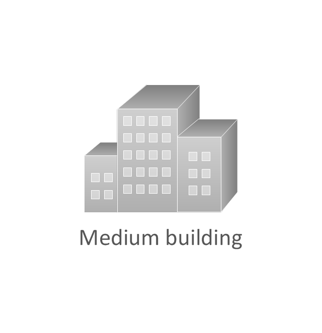 Medium building, subdued, medium building,