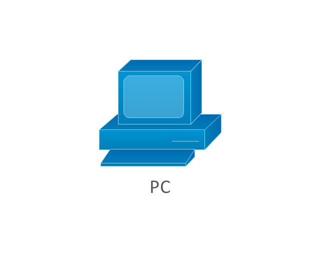 PC, blue, PC,